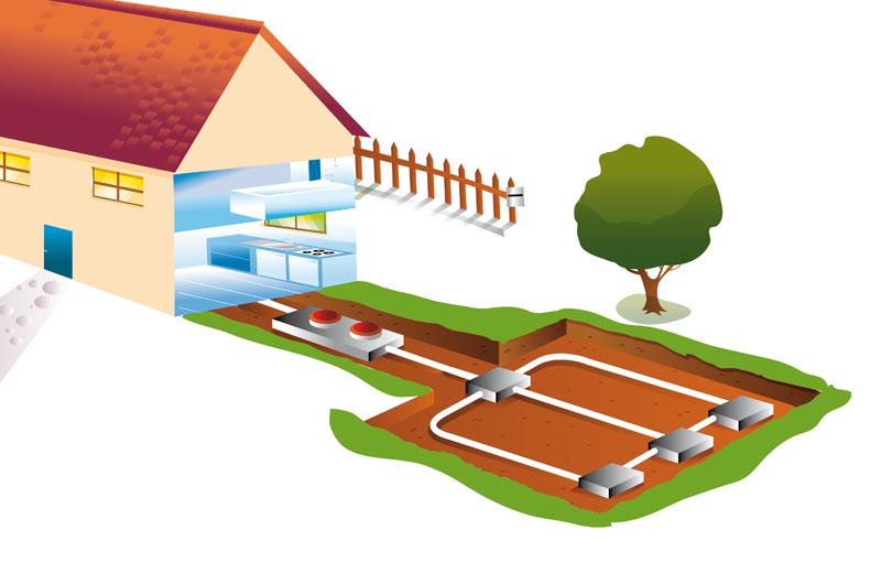 auditoría y certificación energética de naves, edificios y locales comerciales en Madrid - Instalación geotérmica