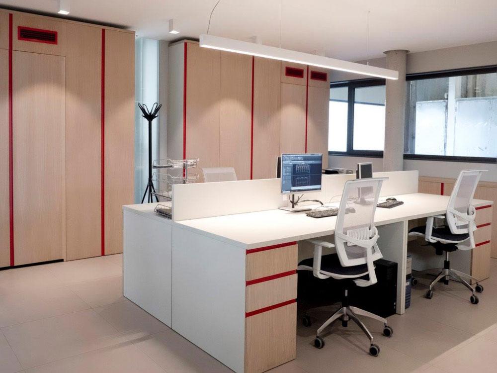 Reforma nave industrial, construcción de oficinas en Getafe (Madrid)