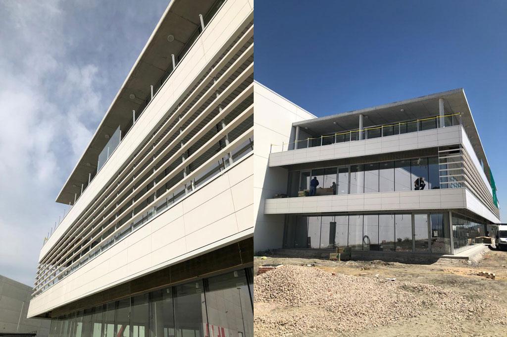 construcción de naves indusriales y oficina en Madrid