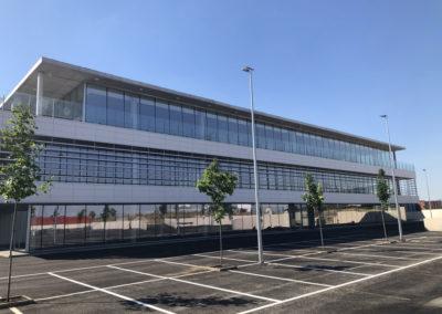 construcción de nave industrial y de oficinas en Pinto (Madrid)